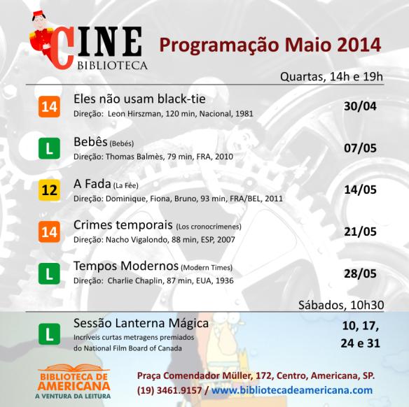 Cine Biblioteca - 2014 - Maio pronta