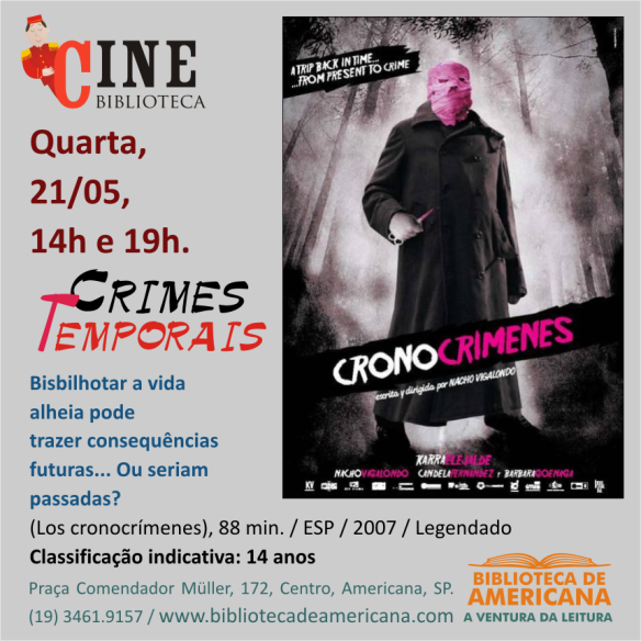 Cine Biblioteca - Crimes Temporais