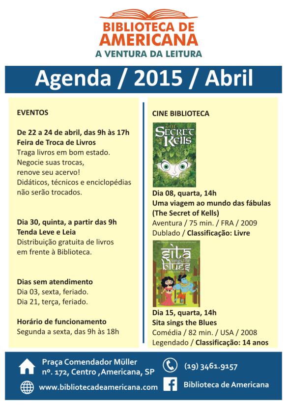 Cartaz Agenda 2015 - 04.
