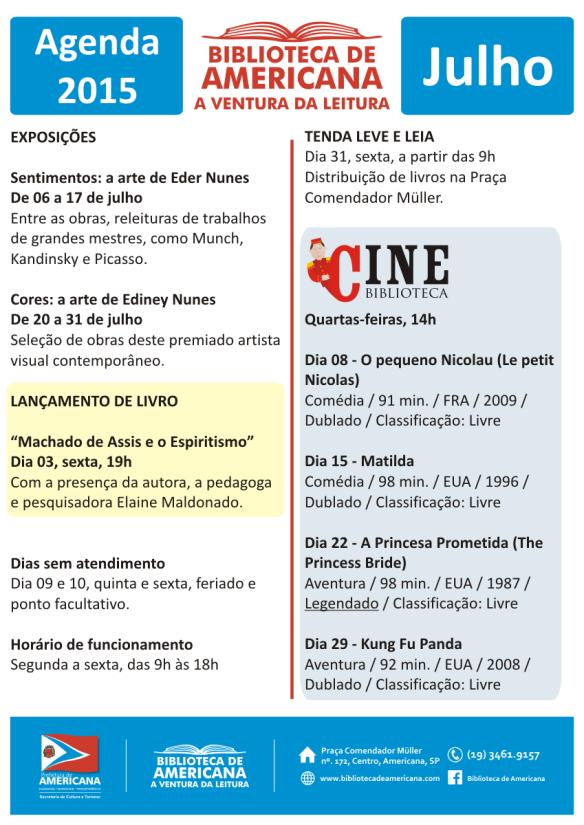 Agenda 2015 - 07 - Julho.
