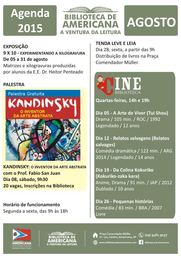 Agenda 2015 - 08 - Agosto.