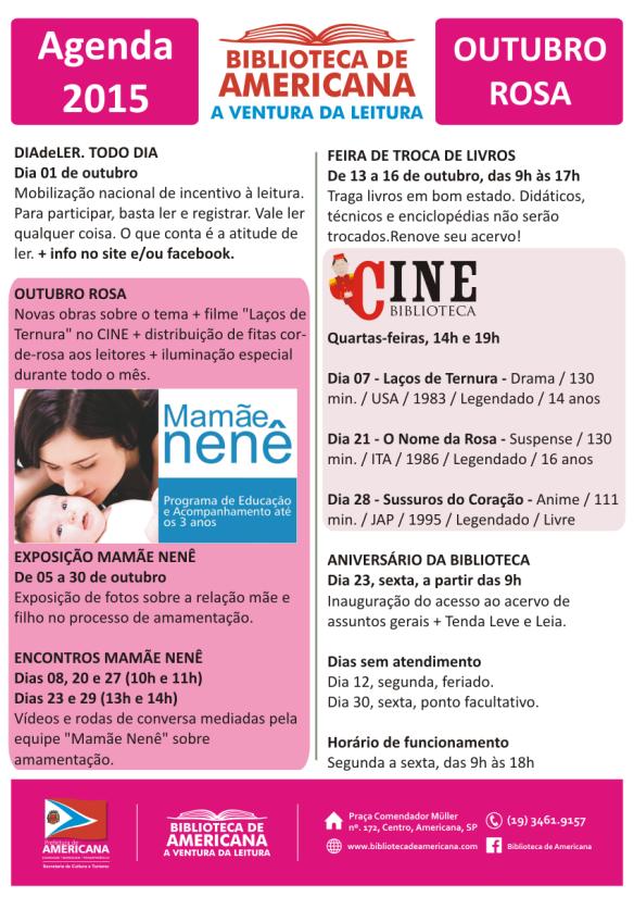 Agenda 2015 - 09 - Outubro.