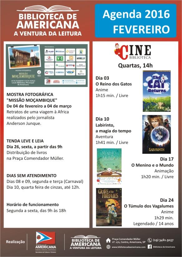 Agenda 2016 - 02 - Fevereiro.