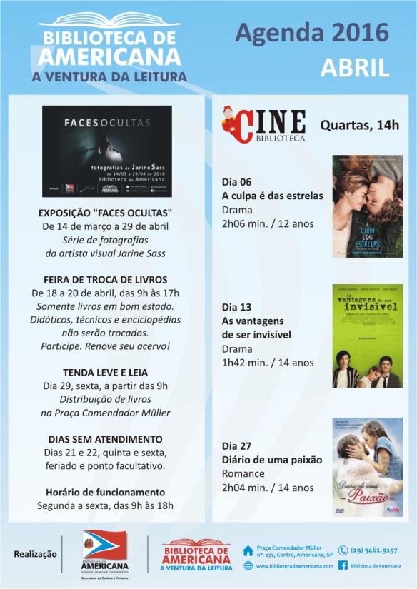 Agenda 2016 - Abril