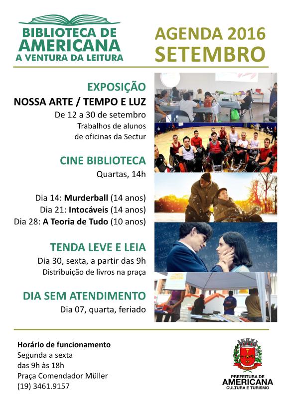 Agenda 2016 SETEMBRO.